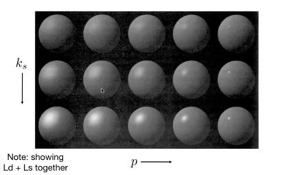 高光项系数变化和效果